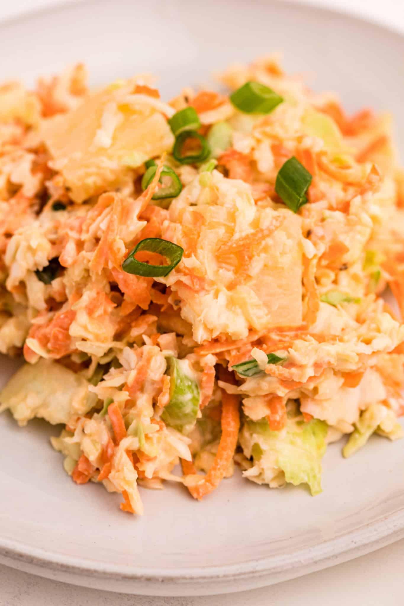 closeup of coleslaw