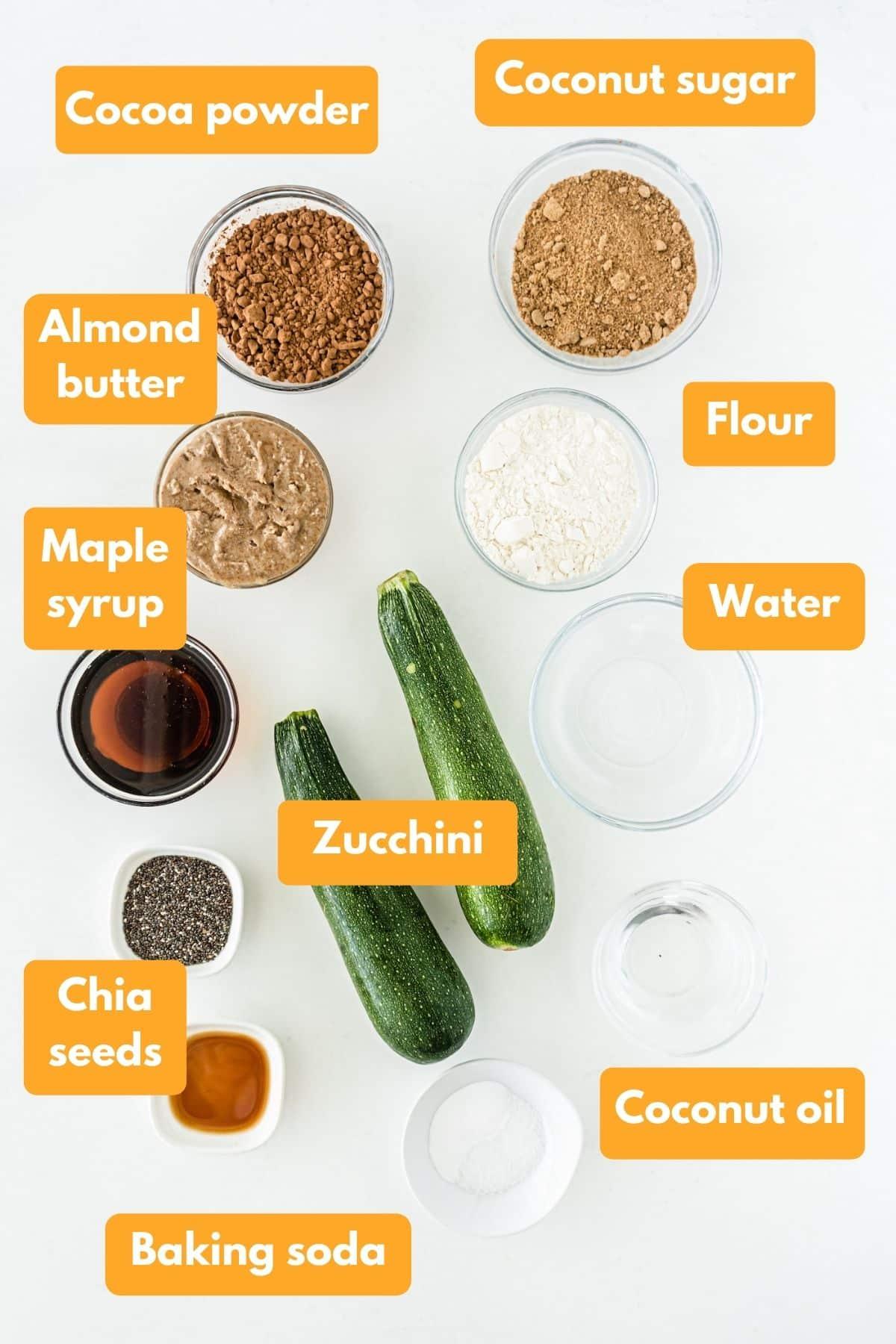 ingredients for vegan brownies