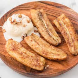 air fryer bananas with cinnamon