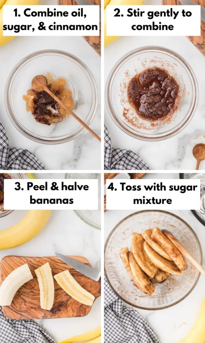 how to make bananas in the air fryer