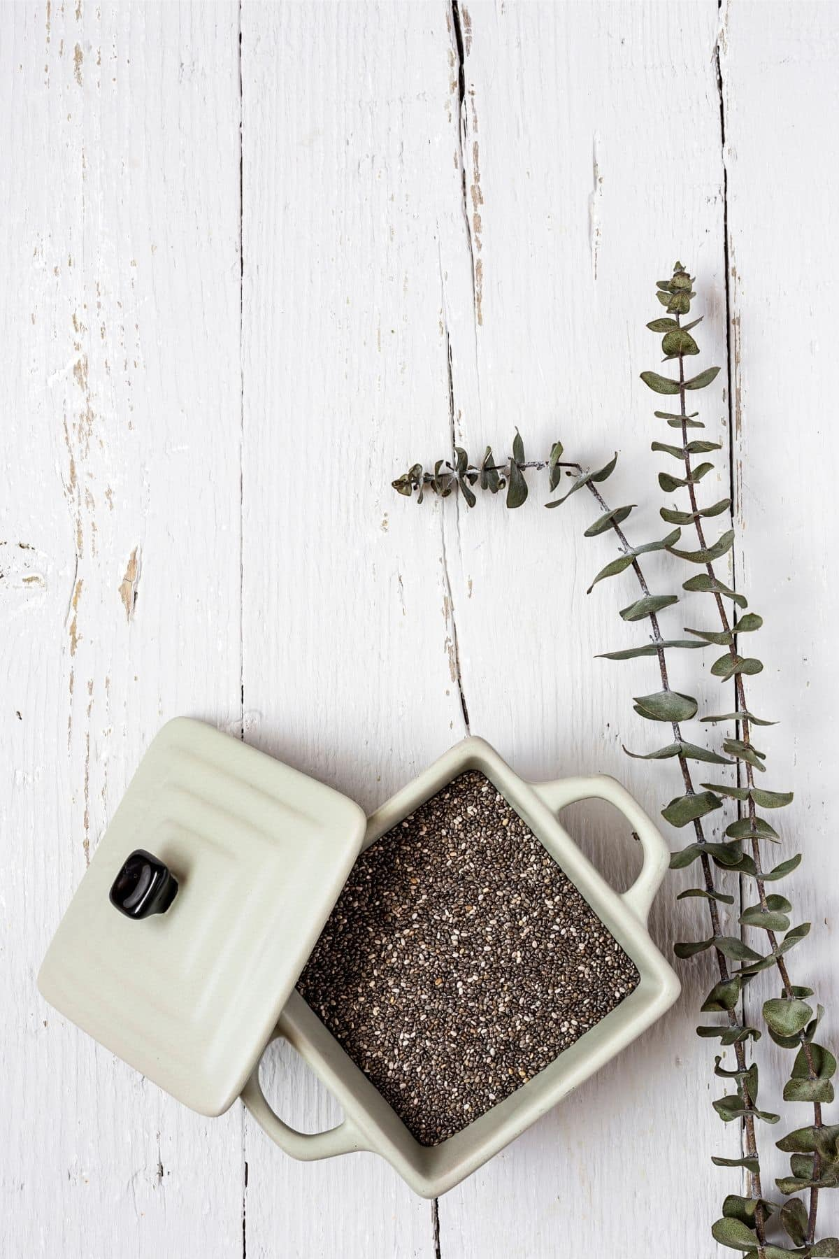 a bowl of chia seeds
