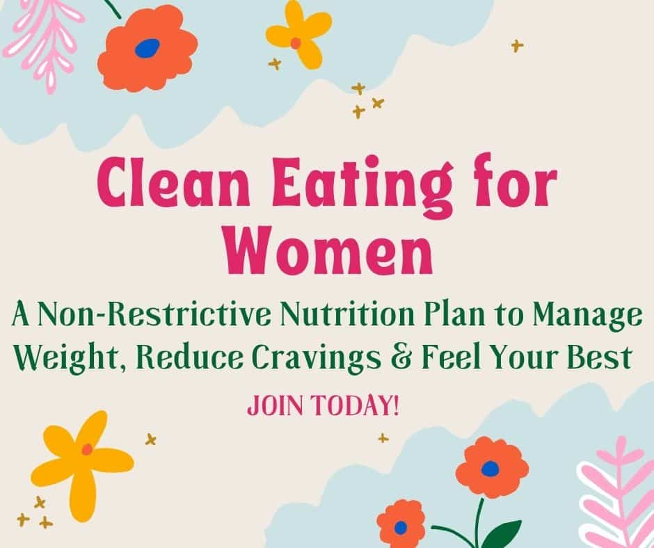 clean eating for women infographic