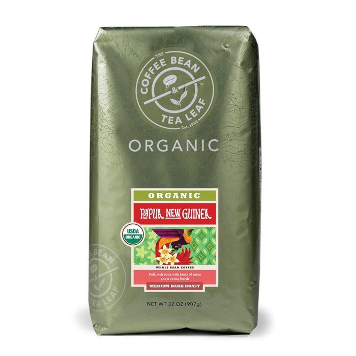 the coffee bean and tea leaf organic coffee