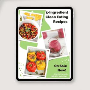 clean eating ebook on tablet