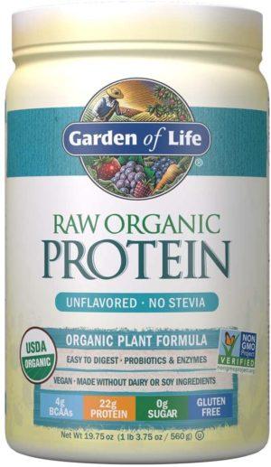 garden of life organic protein unflavored powder