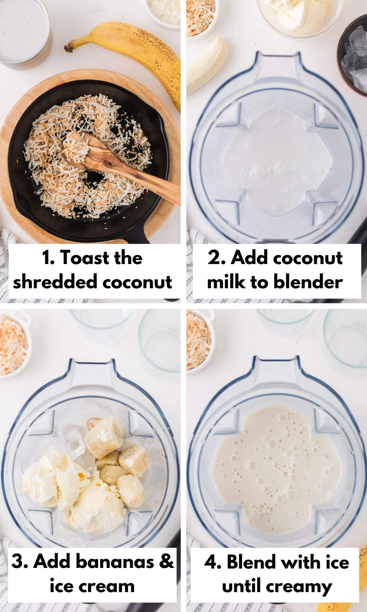 how to make a coconut shake