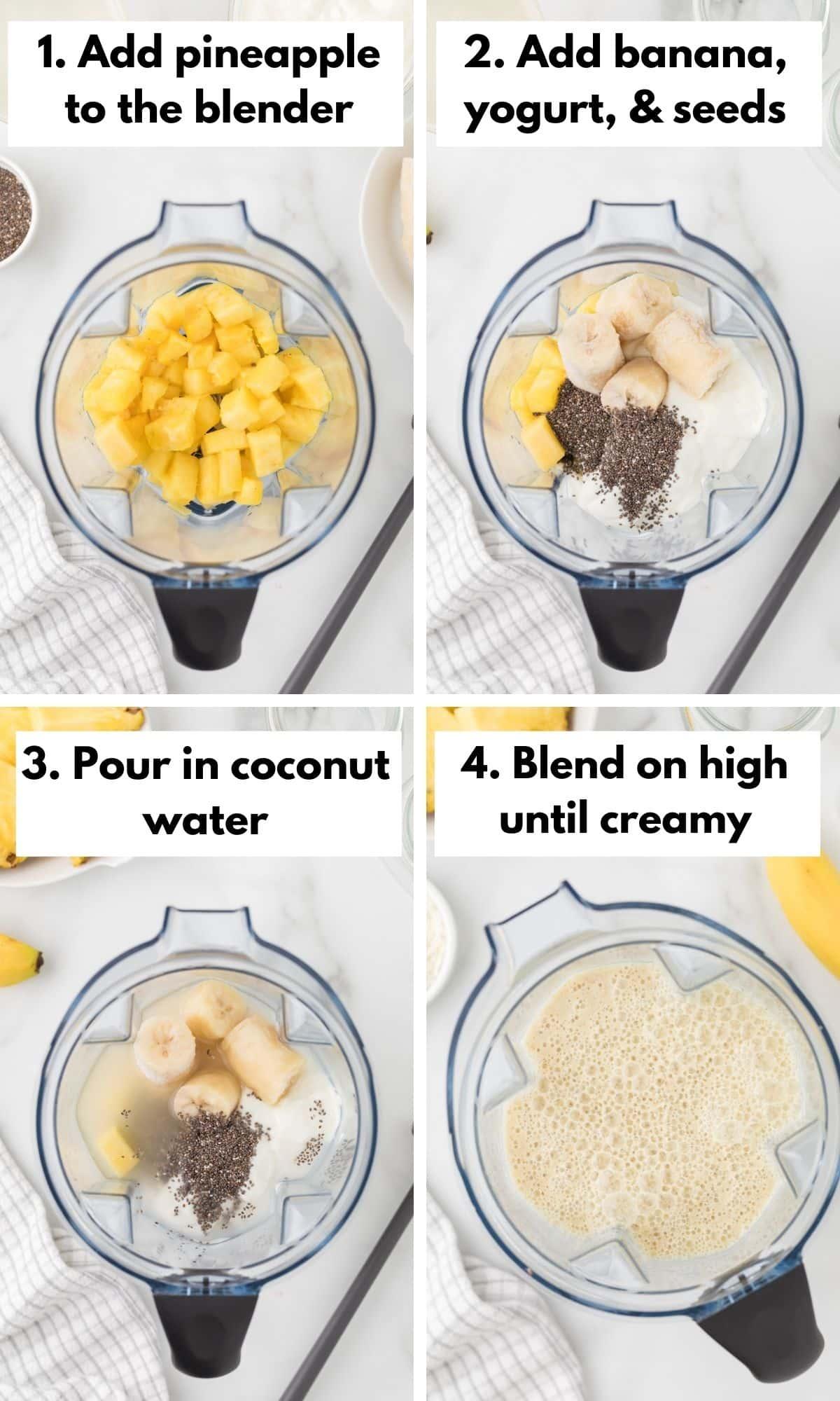 how to make a banana pineapple smoothie