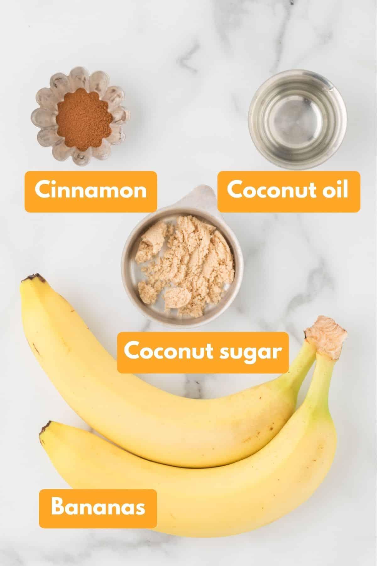 ingredients for air fryer bananas