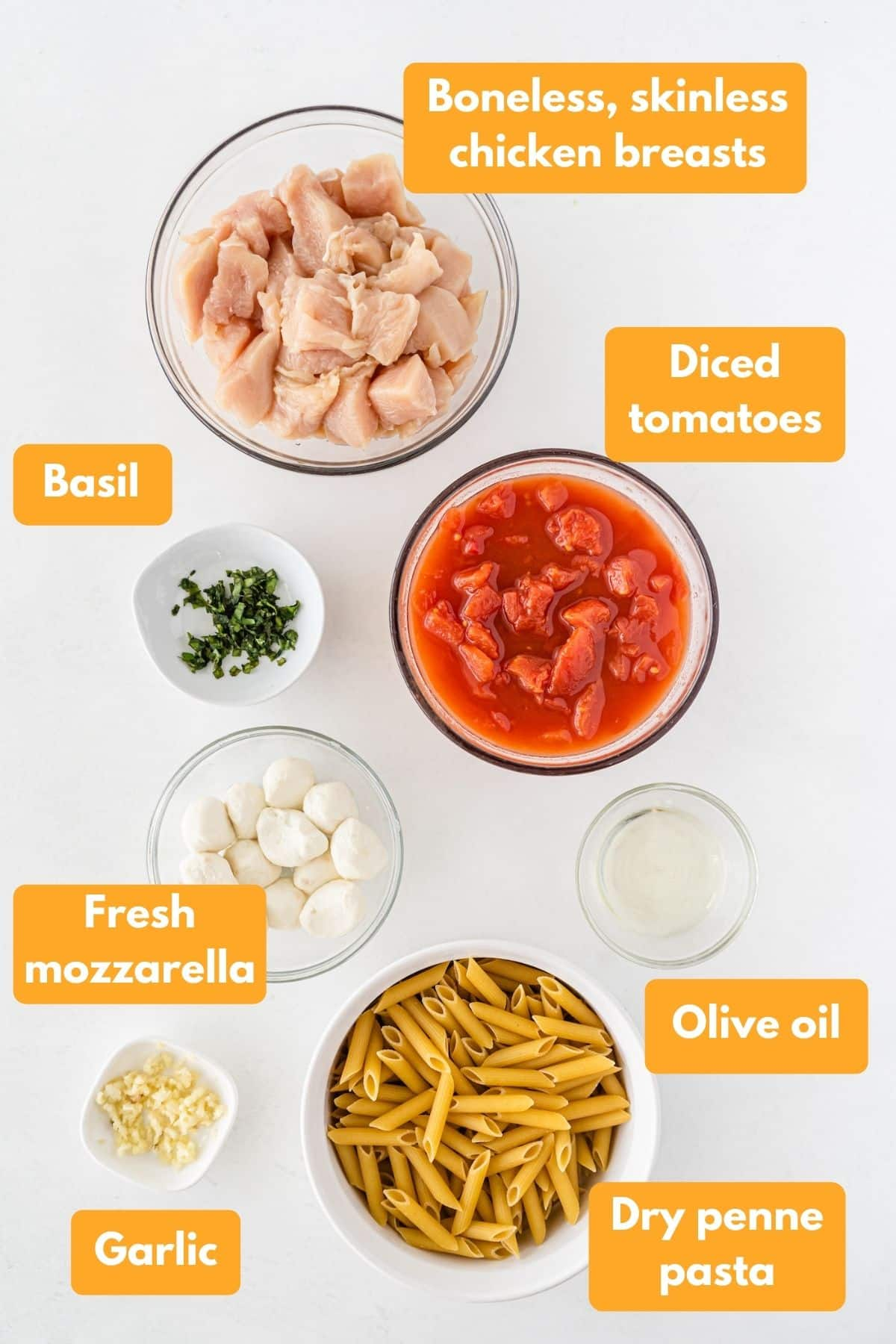 ingredients for cheesecake factory's tomato basil pasta