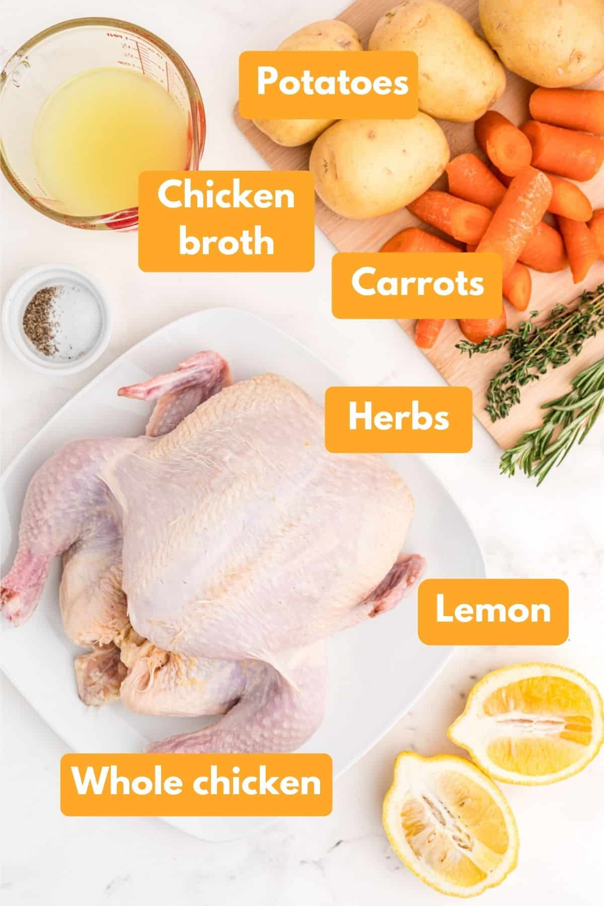 ingredients for instant pot whole chicken