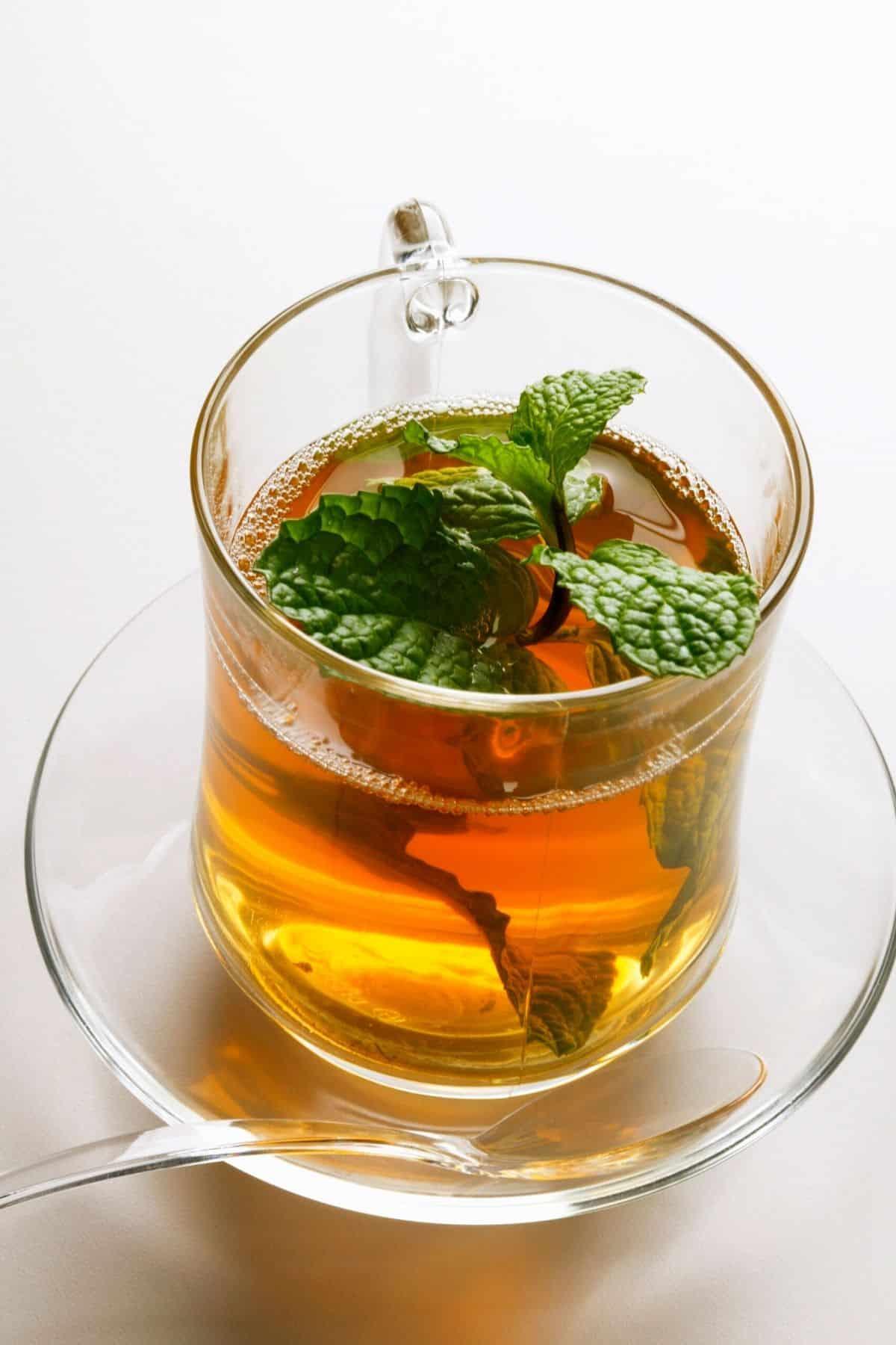 mug of peppermint tea