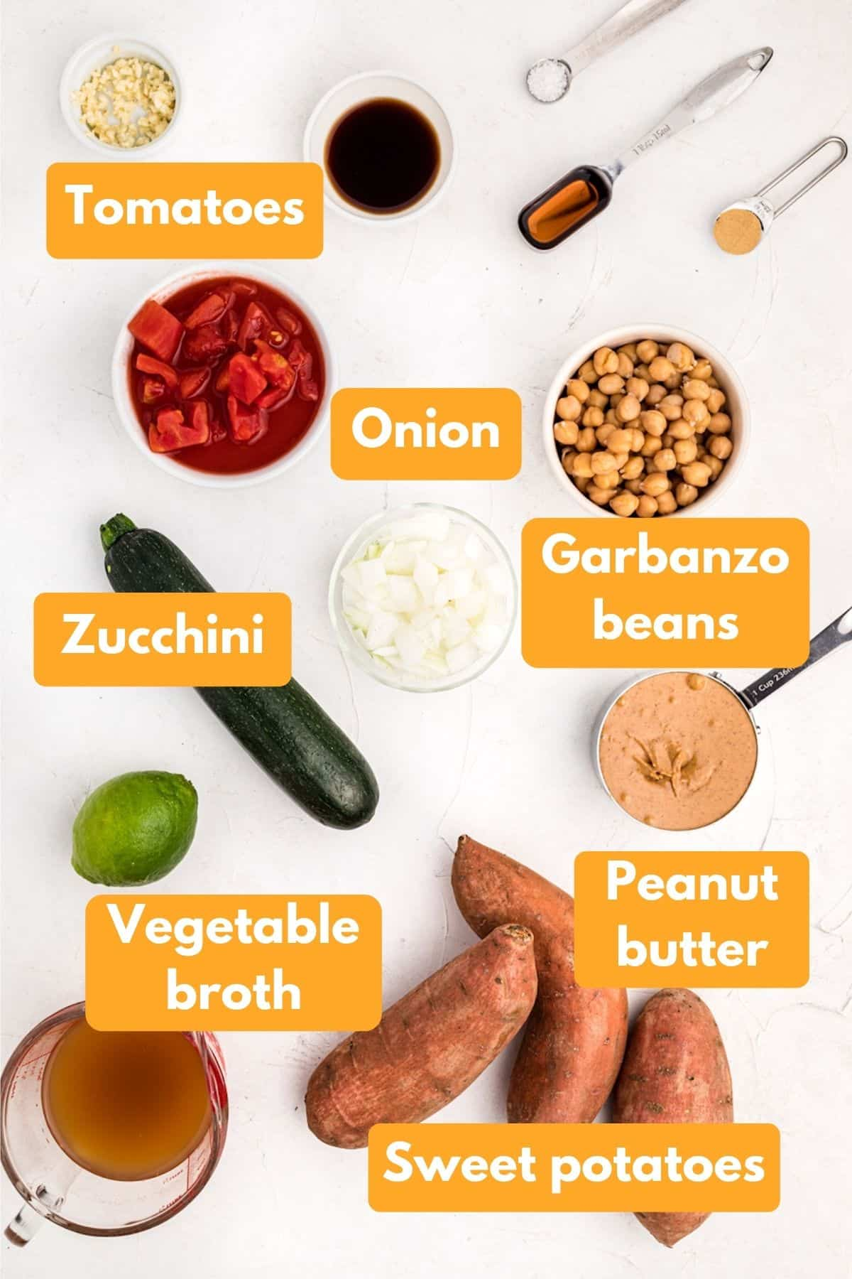 ingredients for peanut butter soup