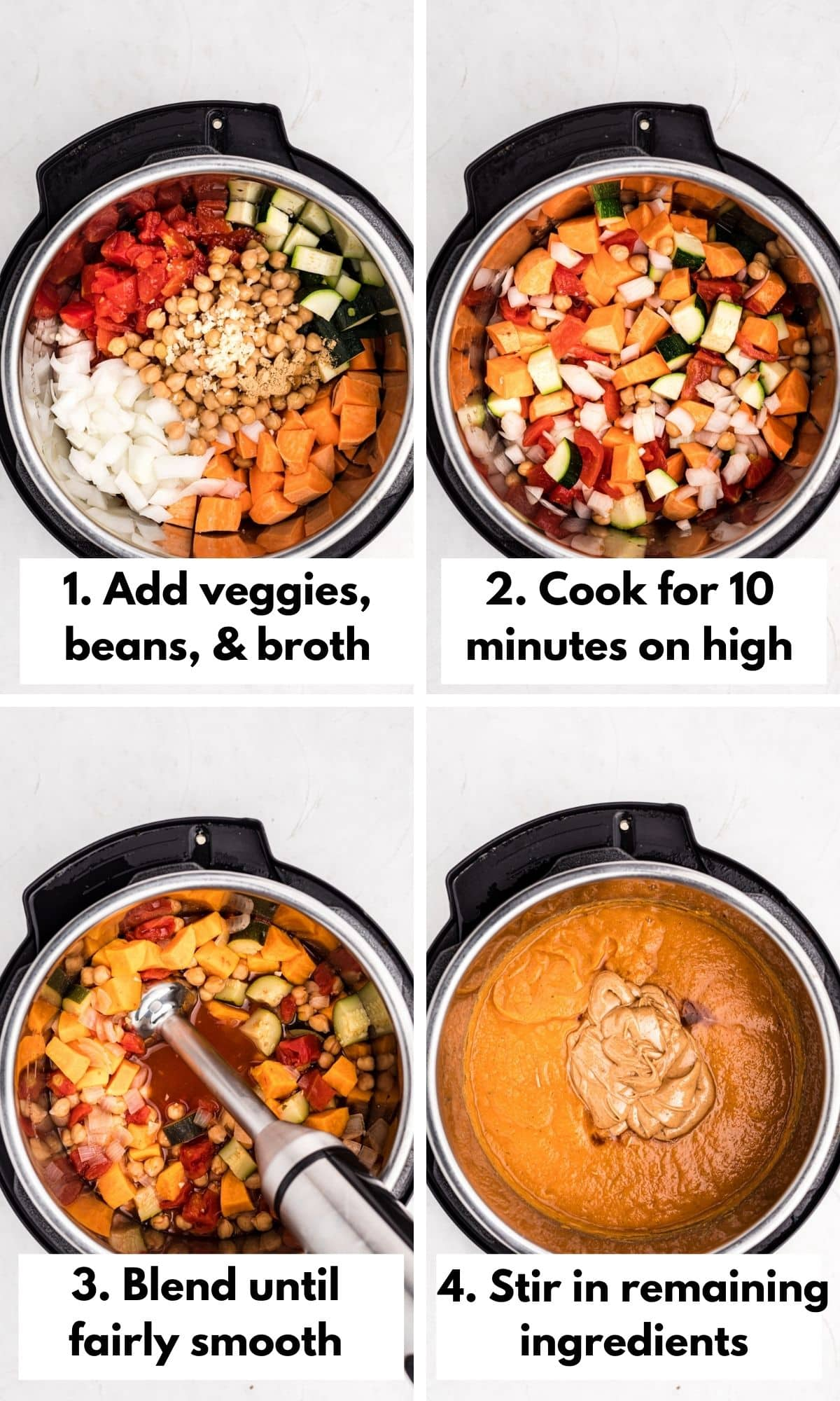 how to make peanut butter soup in the instant pot