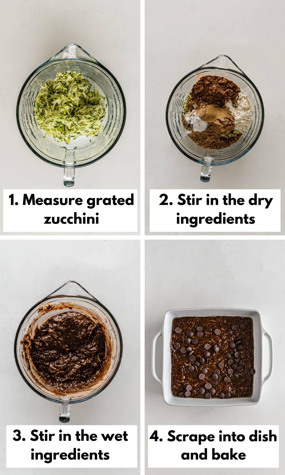 how to make vegan zucchini brownies
