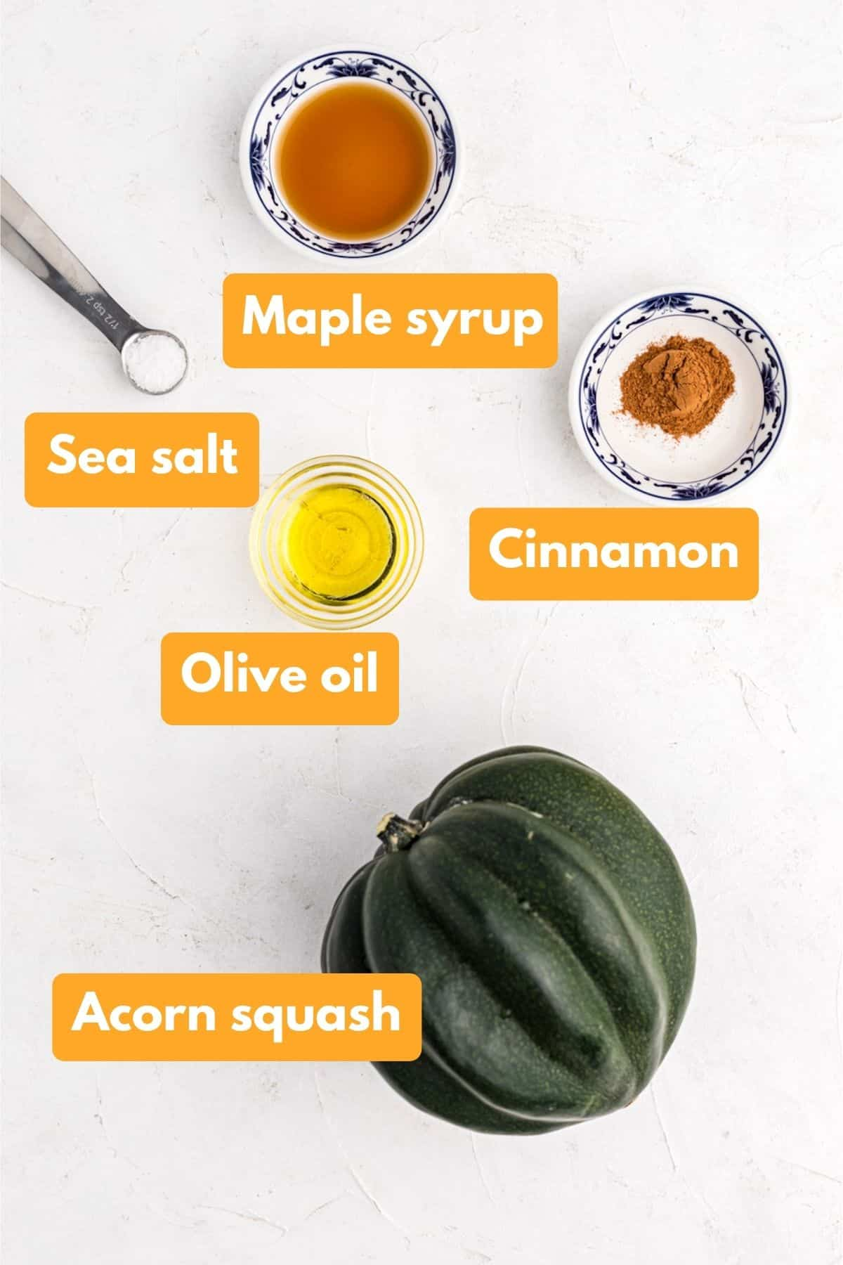 ingredients for air fried acorn squash