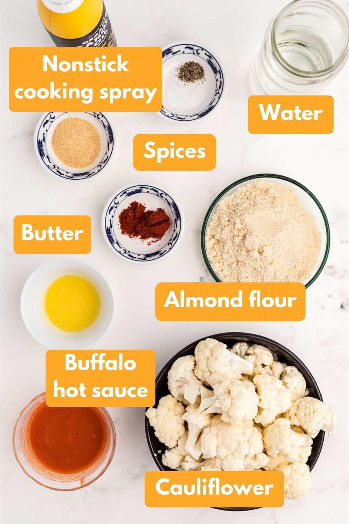 ingredients for cauliflower wings