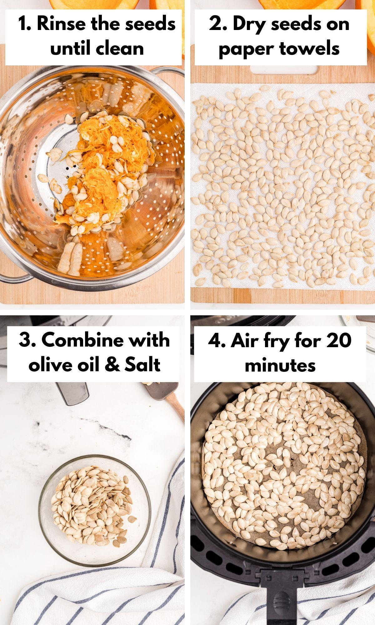 how to roast pumpkin seeds in the air fryer