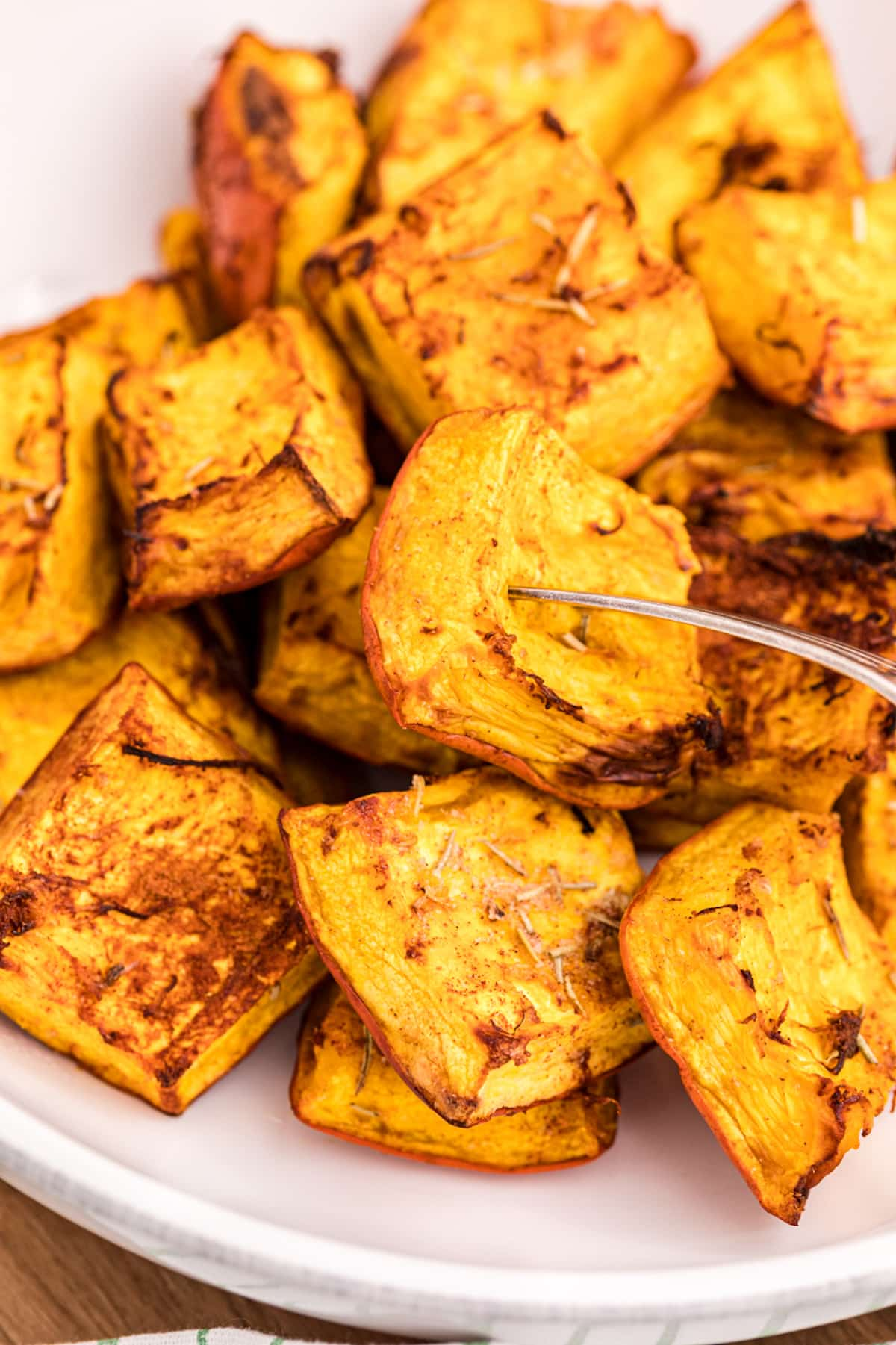 roasted pumpkin in a bowl