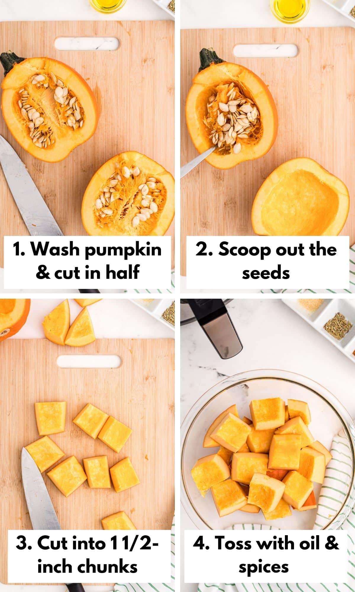 how to make air fryer roasted pumpkin