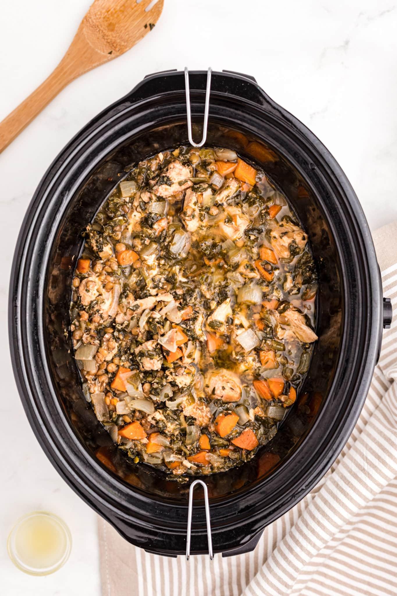 crockpot chicken lentil stew