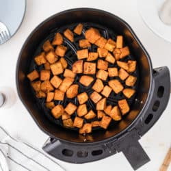 cubed sweet potato in air fryer