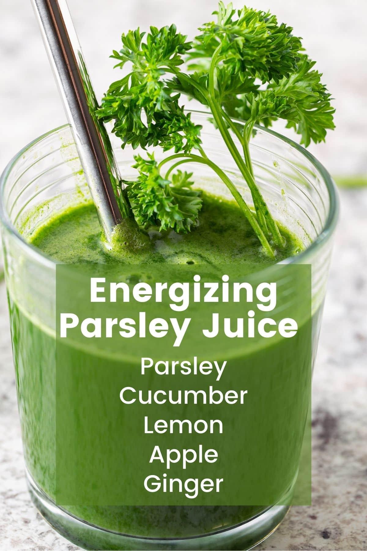 parsley juice infographic