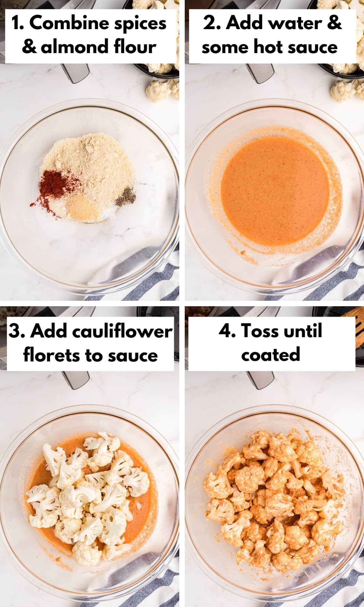 how to make air fryer cauliflower wings