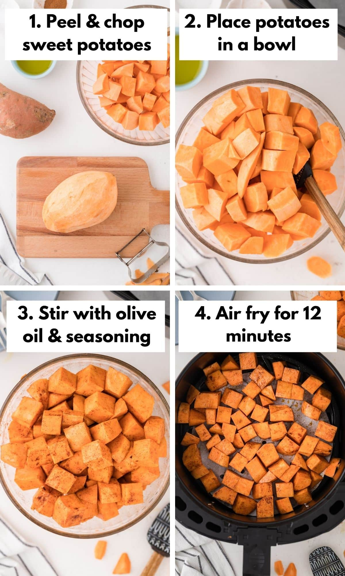 how to cook sweet potatoes in the air fryer