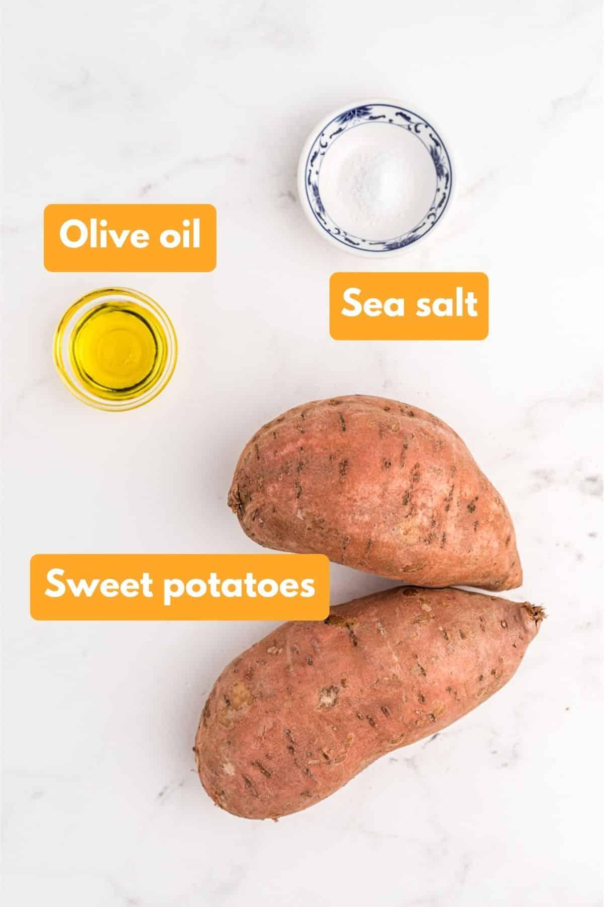 ingredients for sweet potato jack o lanterns