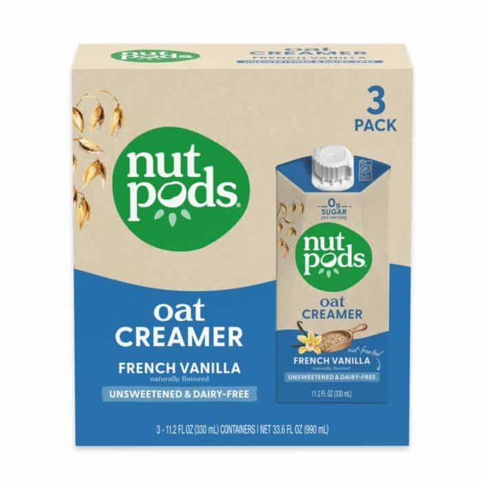 nutpods oat french vanilla unsweetened
