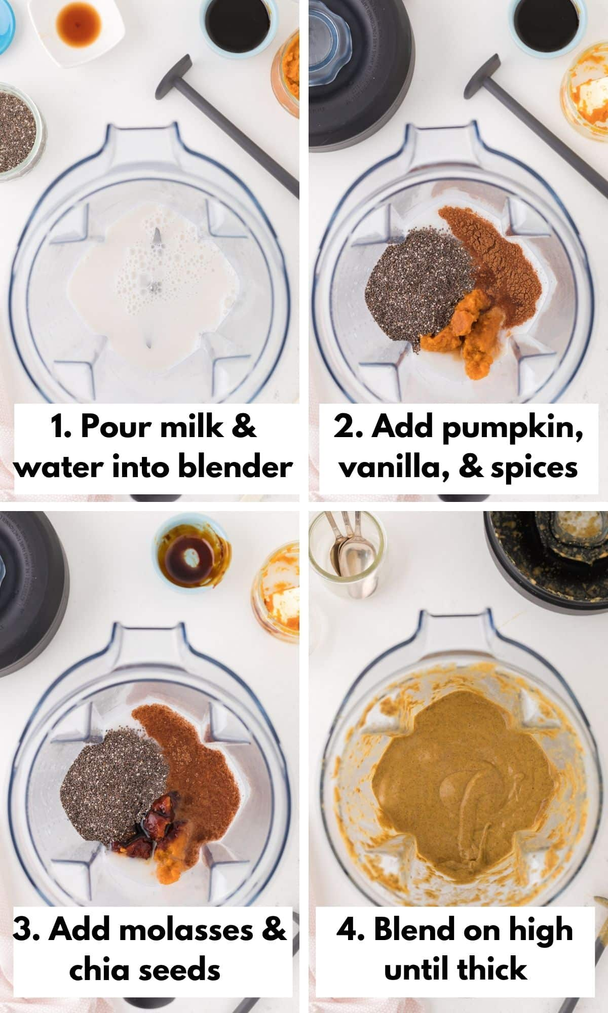 how to make pumpkin chia pudding in a blender