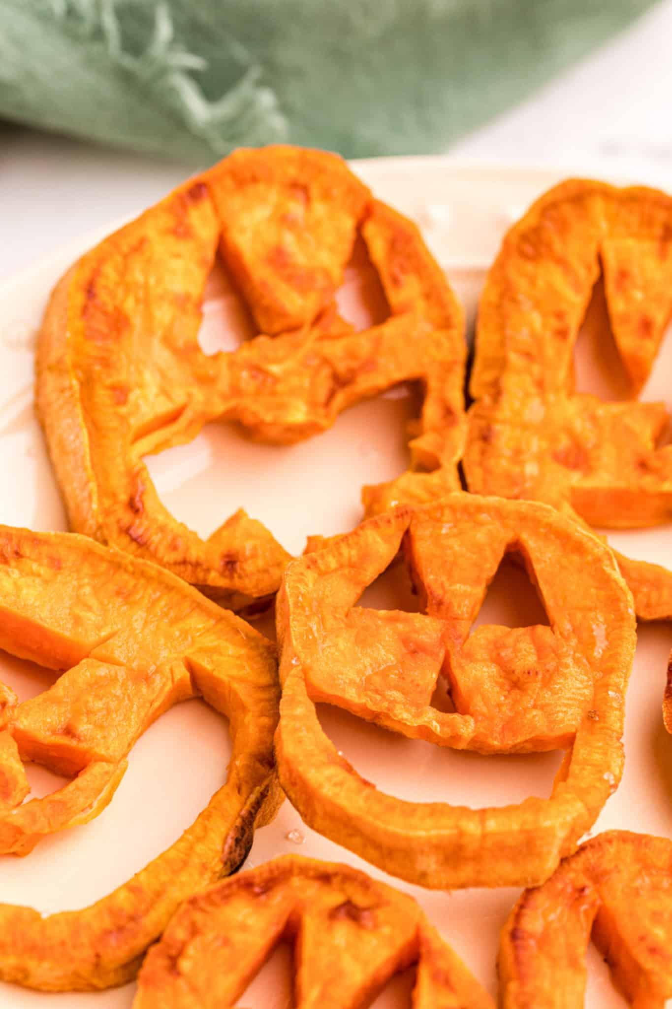 sweet potato jack o'-lantern