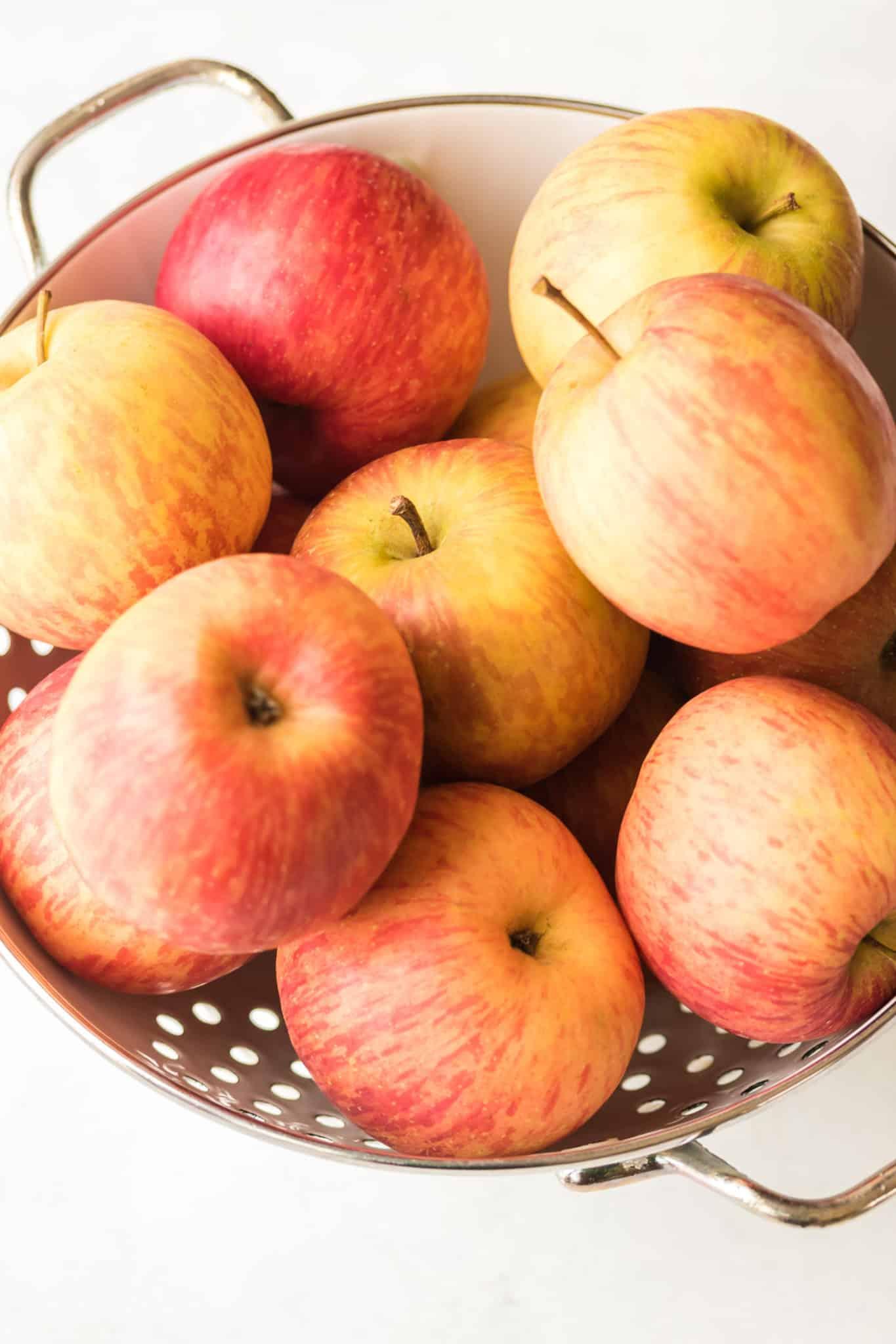 apples in a colander