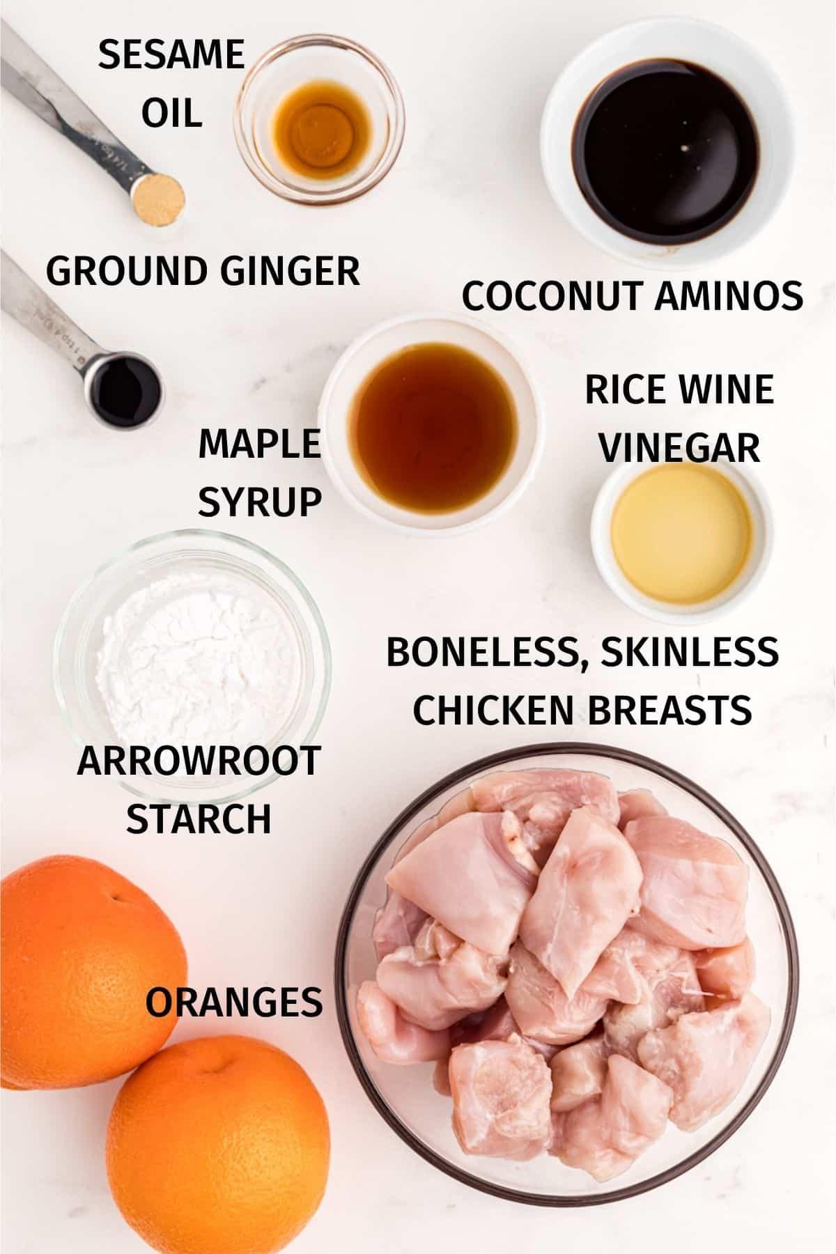ingredients for air fryer orange chicken