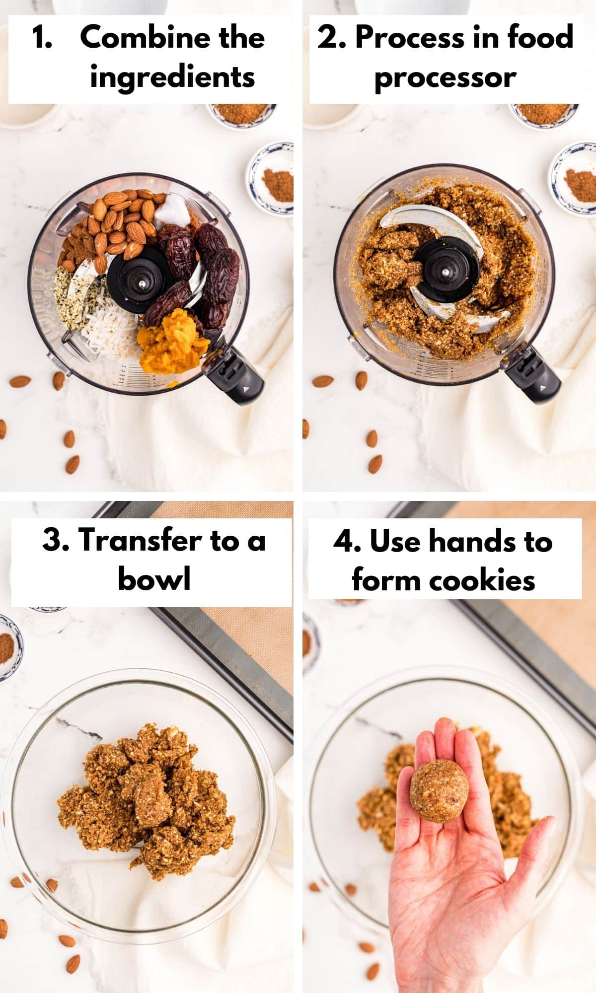 collage of photos with how to make pumpkin cookies