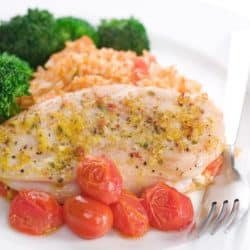 cooked-chicken-with-broccoli-rice-and-tomatoes