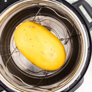 instant pot whole spaghetti squash on trivet