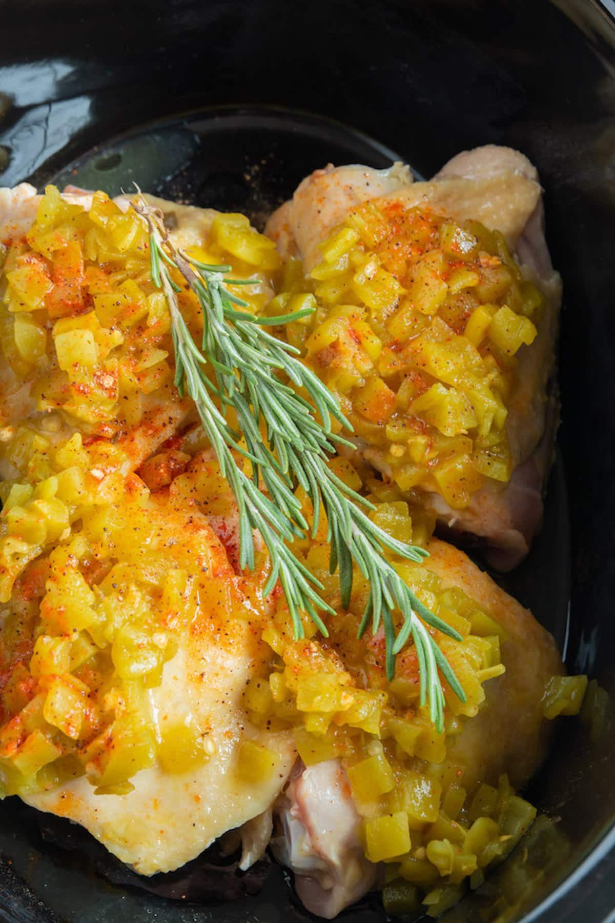 chicken cooked in a crockpot